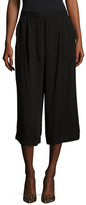 Three Dots Front Pleat Cropped Culottes