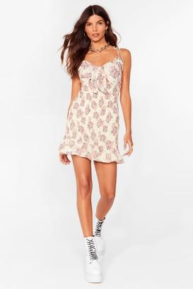 Nasty Gal Womens Summer Days Floral Cami Mini Dress - Cream