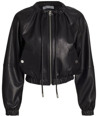Proenza Schouler White Label Lightweight Leather Bomber Jacket