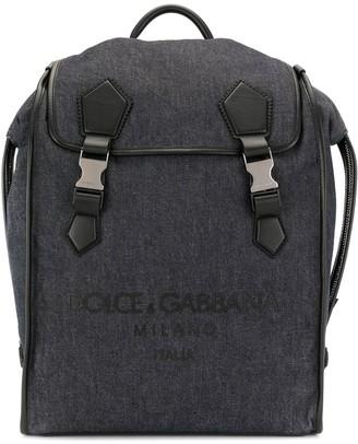 Dolce & Gabbana Logo Embossed Backpack