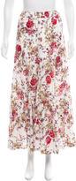eskandar Floral Midi Skirt
