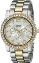XOXO Women's XO5632 Two-Tone Rhinestones Bezel Bracelet Watch