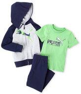 Puma Toddler Boys) 3-Piece Logo Zip-Up Hoodie & Sweatpants Set