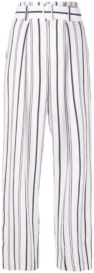 Vince striped wide leg trousers
