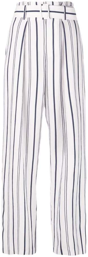 Vince striped wide leg trousers