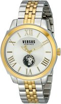 "Versus By Versace Women's SOV04 0015 ""Chelsea"" dial two-tone bracelet watch"