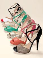 PeepToe VS Collection Cross-strap Peep-toe Sandal