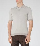 Reiss Tisley Jacquard Weave Polo Shirt