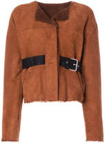 Isabel Marant shearling belted jacket