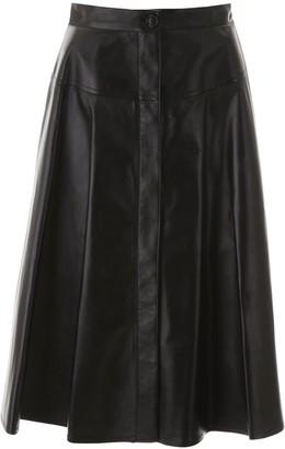 Marni High-Waisted A-Line Midi Skirt