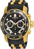 Invicta Men's Pro Diver Gold-Tone Polyurethane Band Steel Case Quartz Dial Analog Watch 21928