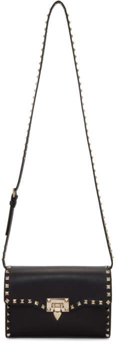 Valentino Black Garavani Medium Rockstud Flap Bag