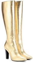 Saint Laurent Lily 95 Metallic Leather Boots
