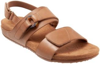 SoftWalk Adjustable Leather Sandals - Benissa