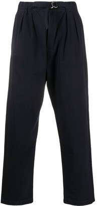 Societe Anonyme Buckled Straight-Leg Trousers