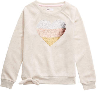 Epic Threads Big Girls Sequined Heart Sweatshirt