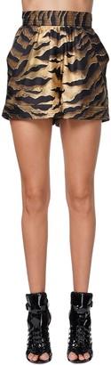 DSQUARED2 Printed Silk Twill Shorts