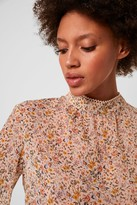 French Connenction Delmira Sheer Printed Blouse