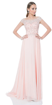 Terani Couture Spectacular Floor-length Dress with Gleaming Top 1611M0609