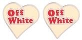 Off-White Heart earrings