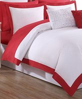Fiesta Classic Duvet Set with Pillow Sham, Twin, Scarlet Red