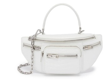 Alexander Wang 'Attica' top handle croc-embossed leather mini belt bag