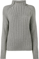 Lot 78 Lot78 high neck ribbed jumper
