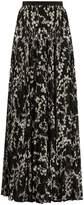 Giambattista Valli Floral-print pleated silk maxi skirt