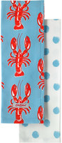 Cath Kidston Lobster Set of Two Tea Towels
