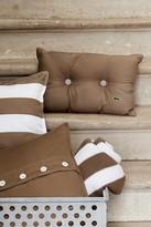 Lacoste Brushed Stripe Twill Pillow - 18 x 18 - Khaki