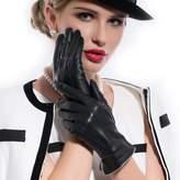 Matsu Gloves MATSU Women Winter Warm Leather 100% Cashmere lined Gloves 5 Colors M9906 (, L)