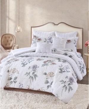 Cedar & Rose Zinnia 8-Pc. Quilted King Comforter Set Bedding
