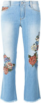 Ermanno Scervino floral motif cropped jeans - women - Cotton/Polyester - 44