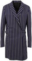 Haider Ackermann belt wrap striped coat