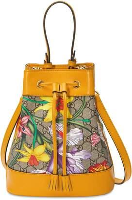 Gucci FLORA GG SUPREME BUCKET BAG
