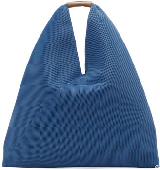 MM6 MAISON MARGIELA Blue Medium Mesh Tote