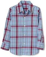 Americana plaid long sleeve shirt