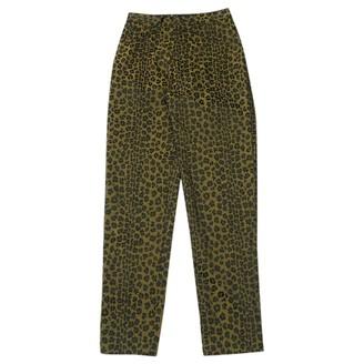 Fendi Gold Polyester Jeans