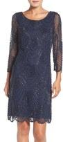 Pisarro Nights Women's Embellished Mesh Sheath Dress