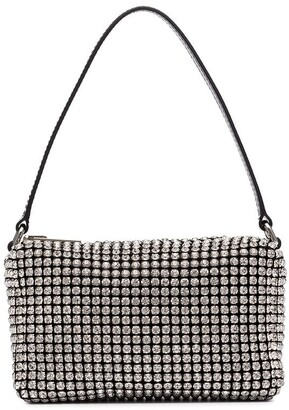 Alexander Wang medium Wangloc rhinestone-embellished clutch bag