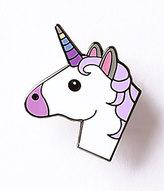Ivory & Purple Unicorn Enamel Pin
