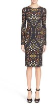 Alexander McQueen 'Obsession' Print Stretch Jersey Dress