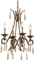 Feiss Reina 4-Light Gilded Imperial Silver 1-Tier Chandelier