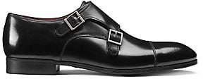 Santoni Men's Double Buckle Leather Dress Shoes