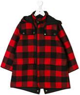 Stella McCartney checked hooded jacket