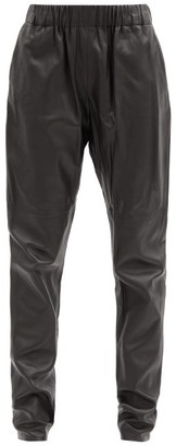 Dodo Bar Or Kuku Elasticated-waist Leather Tapered Trousers - Black