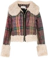 Chloé Cropped Tweed Shearling Jacket