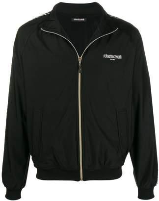 Roberto Cavalli logo-trimmed jacket