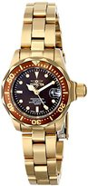 "Invicta Women's 12524 ""Pro-Diver"" 18k Gold Ion-Plated Stainless Steel and Brown Dial Bracelet Watch"