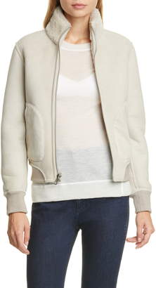Rag & Bone Jodi Reversible Genuine Shearling Bomber Jacket